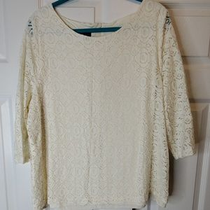 Talbots Woman Lace Top